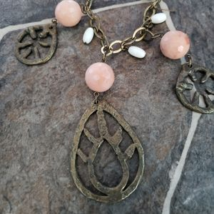 Rustic gold  necklace
